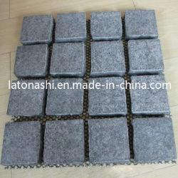 Lava negra la piedra de basalto con poros/agujeros pulidas o bruñidas cubos/Baldosas de piedra de pavimento