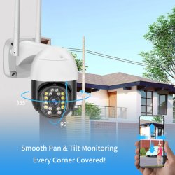 V380 pro 1080p WiFi Wasserdichte Dome-PTZ-Kamera Smart Wireless H. 265 ONVIF IP CCTV IP-Kamera