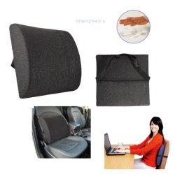 Espuma de memoria almohadas cojines de respaldo de cuña almohada lumbar para silla de oficina la conducción y viajar