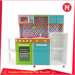 Les enfants le favori de grande cuisine en bois jouet de combinaison