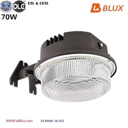 5 anos de garantia Dlc ETL listados Sensor Fotocelula 70W ao Anoitecer ao Amanhecer celeiro LED acende luz Yark Luz de parede para jardim