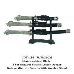 Carta de sulcador Samurai japonês de espadas katana Dragon lidar com artesanato Jot-116