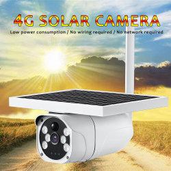 6W Draadloze IP van het Toezicht van kabeltelevisie van de Kaart van de Consumptie van de Macht van het 1080PZonnepaneel HD Lage 4G SIM Waterdichte Infrarode Lichte Bidirectionele Audio OpenluchtCamera