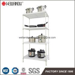 Restaurante de Cozinha 4 Camadas tapete plástico ABS estantes com aprovação NSF