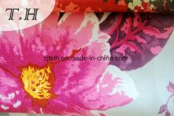 Fleur imprimé Super doux pour le canapé en velours, sellerie