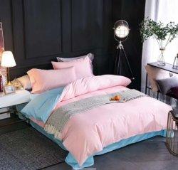 Baumwollfeste zweifarbige Bett-Deckel-flaches Blattduvet-Deckel-Kissenbezug-Bettwäsche 100%
