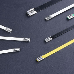 Bridas de acero inoxidable en el cable Accesorios