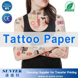 Ce RoHS alcanzar tatuaje temporal de papel adhesivo pegatina
