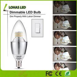 E12, E14, E27 3W 5W 6W 7W 9W холодный теплый белый SMD светодиодная свеча лампы с регулируемой яркостью