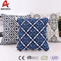 Qualitäts-Großhandelssegeltuch-Kettenheftungs-Stickerei-Baumwollkissen