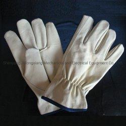 Проложенная Pigskin драйвера рабочие перчатки из натуральной кожи