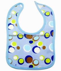 OEMの農産物によってカスタマイズされるデザインによって印刷される淡いブルーの綿のジャージーの赤ん坊の首の胸当て