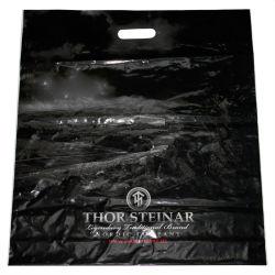 Perforación de Dongguan manejar materiales de publicidad bolsas de plástico con Logo de la bolsa de troquel de impresión