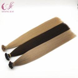 Правам Virgin бразильский кератин волос с плоским наконечником Extensions