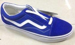 Großverkauf-beiläufige Schuh-Segeltuch-Veloursleder bereift reale lederne Schuh-Turnschuh-Schuh-flachen Schuh
