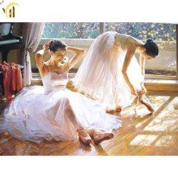 Diamant die van het Meisje 5D DIY van het ballet de Dansende het Volledige Kristal van de Boor schilderen