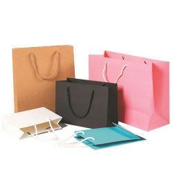 Бумажный мешок, оптовая продажа индивидуальные белого цвета при печати небольших Silver многоразовые Retail Portable розового цвета Net характера брелоки рекламные вино одежды магазинов сувениров подарочный пакет