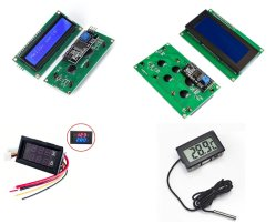 Módulo LCD vermelho azul do módulo do Mostrador de Luz de fundo da tela de toque LCD digital