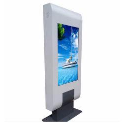 Publicidade exterior a máquina 65 polegadas LCD de Chão Display Ad Hotel Lobby Internet quiosque de LCD