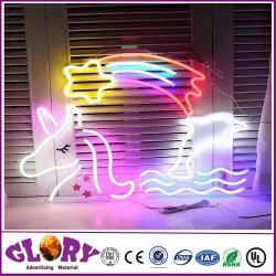 Einhorn konzipiert leuchtende Neonzeichen-Hauptacrylsauerdekoration