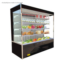Handelssupermarkt-aufrechte Gemüsebildschirmanzeige-Kühlraum-Kühlraum-Gefriermaschine für Supermarkt-System-Speicher