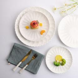 Jantar de cerâmica grossista prato louça de porcelana Jantar Placa bone china branca de alta qualidade prato alimentar (TC23003192JH)
