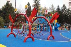 حديقة ملاهي ملاهي خارجية شعبية الأطفال تسلق الحبل التحدي الشبكة يتوفر هيكل مع حبل من النايلون مقاس 16 مم مخصص