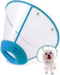 No lado do colar de Recuperação de Pet Ajustável confortável Cone Cat borda suave do Cone de cães de plástico Anti-Bite lique cicatrização das práticas de segurança e gola de protecção