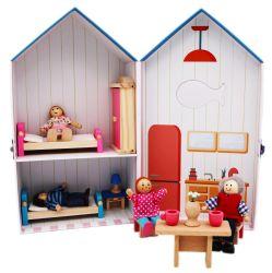 커스텀 종이 나무 블록 가구 하우스 현장 교육 DIY 장난감