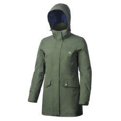 Comercio al por mayor de dos piezas extraíbles de la mujer traje impermeable al aire libre 3 en 1 de esquí de la moda invierno Moda Verde chaqueta