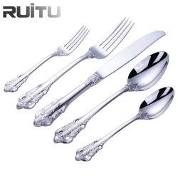 Ustensiles de cuisine du restaurant Buffet traiteur Table durable Ware forgé main de luxe de l'Argenterie 304 Matte coutellerie en acier inoxydable fixée pour l'Arabie saoudite