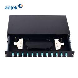 2020 12 FTTX haute densité de port du panneau de raccordement à fibre optique