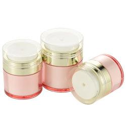 Vendedor caliente precio de fábrica de plástico acrílico Airless tarros de cosméticos para el cuidado de la piel