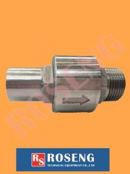 La válvula de retención de giro de acero inoxidable de 3/4 NPT macho