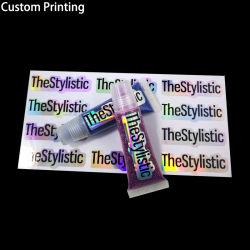 Logotipo de impressão personalizado pistolas de cola do rolo de película brilhante de lábio marca impermeável 3m Vinil PVC autocolante Private Label da cor do papel