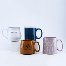 16 أونصة/17 أونصة /18 أز كأس قهوة Glaze بالألوان ذات طنين واحد /كوب قهوة من السيراميك للهدايا أو العروض الترويجية أو الاستخدام اليومي ومبيعات المصنع المباشرة وقبول شعار الطباعة المخصص