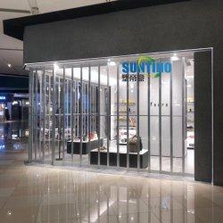 Алюминиевые Shopfront прозрачной пластиковой складные двери с открытым просмотра