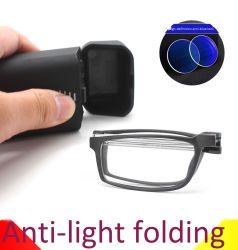 2020の傾向の習慣のブランドの折る細字用レンズ、安い価格のケースの反青いライトが付いている小型Foldable細字用レンズ
