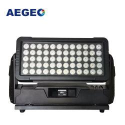 El color de la ciudad de exterior impermeable IP65 regulable luces LED 60x10W LED DMX RGBW bañador de pared de la luz de la construcción