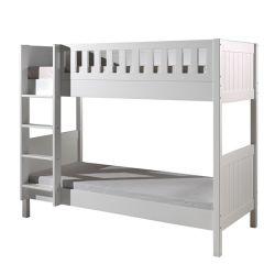 أبيض [بونك بد] [3فت] سرير إطار شقوق داخل 2 [سنغل بد], صلبة [بين ووود] غرفة نوم أثاث لازم