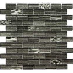 Hechos a mano de 24X24 Piscina Mosaico de vidrio de color gris pintura