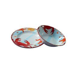 La vaisselle en mélamine 2020 Plaque de plastique de conception de crabe et de la cuve