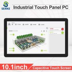 Resistente al agua IP65 Monitor de 10,1 pulgadas de IHM incrustado en una pantalla táctil industriales Panel PC Android