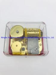 La parte inferior de oro movimiento musical de cuerda transparente la caja de música Yb4 (G) /C-02