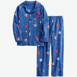 Schlafanzug für Jungen und Mädchen 2-teilig Set Langarm-Sleepwear Kinder-Schlafanzug mit Winternacht für Kinder