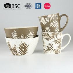 Insieme di ceramica della ciotola della tazza di disegno creativo opaco di alta qualità della glassa dei prodotti dei fornitori