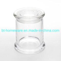 Venda por grosso de vendas quente 4 Oz 200ml claro jarra de vidro para vela de estanqueidade com tampa de vidro