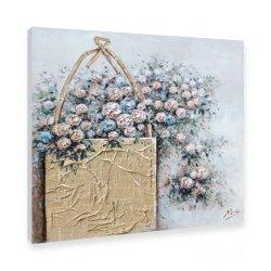 ديكور غرفة النوم لوح الحائط قماش فن زهرة الطلاء ديكور المنزل