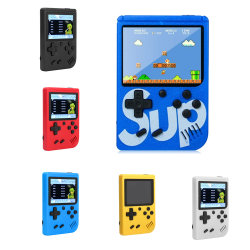 Retro 휴대용 소형 소형 한모금 게임 장치 8 비트 색깔 LCD 아이 색깔 게임 붙박이 400 게임 선수 한모금 게임 장치