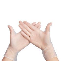 Handschoenen van het Latex van de Veiligheid van pvc van het Poeder van de goede Kwaliteit de Beschikbare Vrije Transparante met Grootte (Beschikbare handschoen)